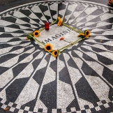 """Imagine"" at Strawberry Fields. Fun bike rides through central park make for a beautiful way to take in the city. 8.30.15"