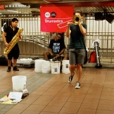 Getting to enjoy talented street performers in the subway 8.30.15