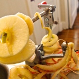 First Honeycrisp apple of the season and a new apple peeler from Marmie. 9.14.15