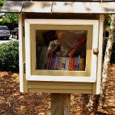 National Book Lovers Day. Love the lending libraries around Columbia and this national holiday. (8.9.15)