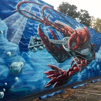 Lobster Mural (2757 Rosewood Drive) by McClellan Douglas
