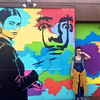 Frida Painting Dali (2911 Millwood Avenue) by Tripp Derrick Barnes