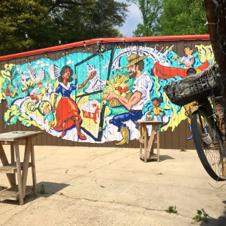 Cola Town Bike Collective Mural (711 Elmwood Avenue) by Trahern Cook and Mazie Fran