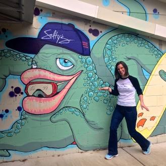 Salty's Board Shop Mural (2712 Devine Street) by Clayton Wooten & Jeremy Burt