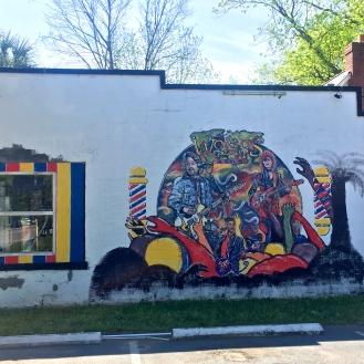 Barbershop Mural (1928 Rosewood Drive)