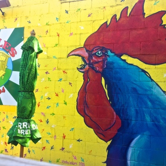 Peebles Wing Shack Mural (1332 Rosewood Drive) by Shelby Leblanc