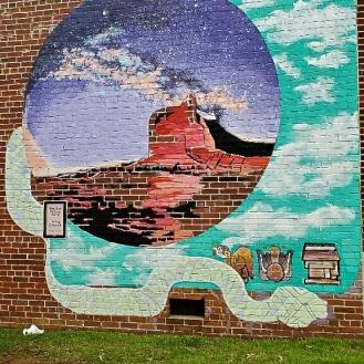 Solar Eclipse Mural (933 Main Street) by Lauren Andreu & Daniel Andreu