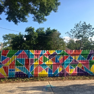 Color Wall/Nail Bar/Barre 3 Mural (3006 Devine Street) by Chris Carrington