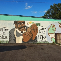 George Washington Carver Mural (4622 North Main Street) by Danrelle McCall