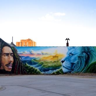 Bob Marley Mural (719 Harden Street/Natural Vibrations) by McClellan Douglas