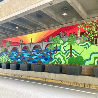 Under the Bridge Art (Washington/Sumter Parking Garage)
